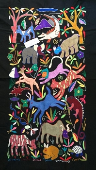 Animal Menagerie: A Mapula Embroidery Project Wall Hanging