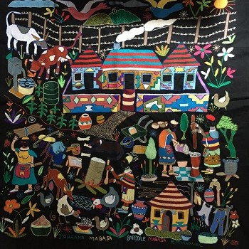 Community Life: A Mapula Embroidery Project Wall Hanging