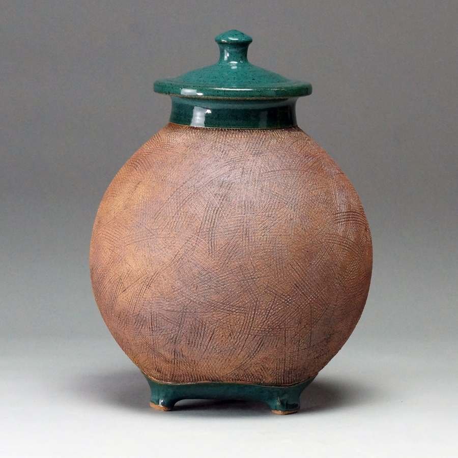 Textured Footed Jar - Timothy Weber