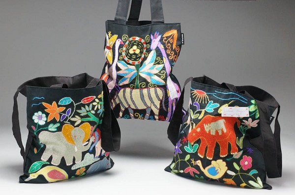 Tote Bags - Embroidered by Mapula Project Members